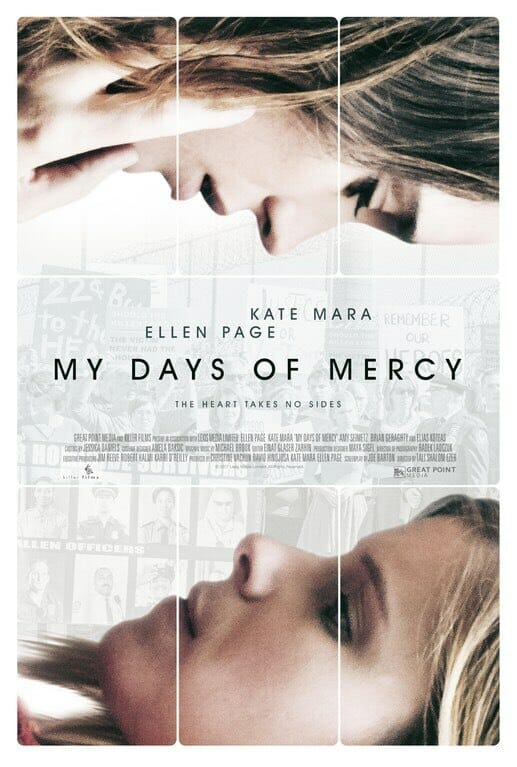Official poster My Days of Mercy - Ellen Page and Kate Mara